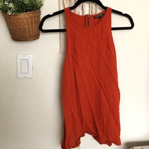 Topshop burnt orange sleeveless with open back